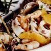 Calamari şi creveţi cu portocale şi ghimbir