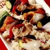Frigărui de legume şi ciuperci cu cuşcuş aromat