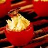 Roşioare umplute cu orez basmati, curry şi vinete