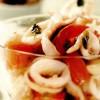 Sote de calamari cu crutoane