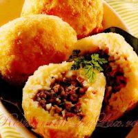 Bulete din orez cu carne de vita