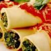 Cannelloni cu spanac şi sos de roşii
