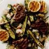 Miel la grătar şi salată de dovlecei