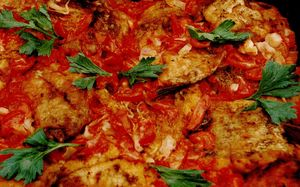 Plachie de crap cu cimbru pasta de tomate