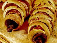 Spirale de bacon în aluat