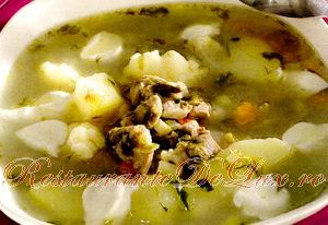 Supa de galuste cu pipote