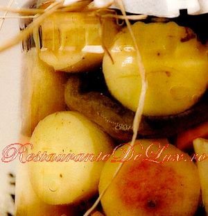 Ciuperci cu mere si struguri