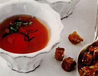 Supă de roşii cu busuioc