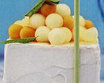 Tort de îngheţată cu pepene galben