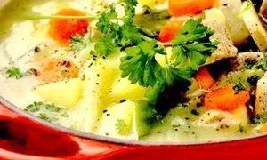 Borş de legume umplute