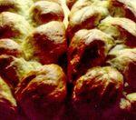 Pâine împletită în trei