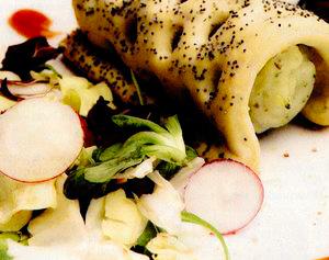Piure cu broccoli şi salată
