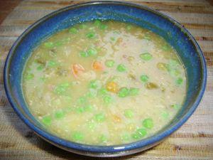 Supă de mazăre cu măruntaie de pui