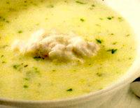 Supa crema de patrunjel cu galuste de peste