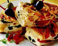 Tortilla cu ardei şi cartofi