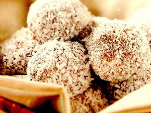 Trufe de ciocolată şi cocos