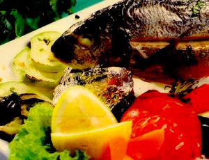 Biban de mare cu legume