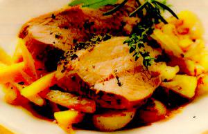 Muschi de porc cu morcovi