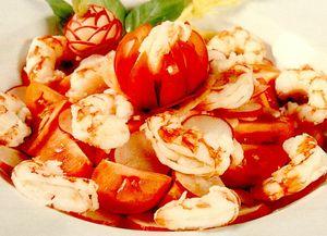 Salată catalană de creveţi