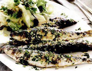 Sardine cu salată de fenicul