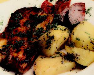 Scăriţă de porc cu cartofi