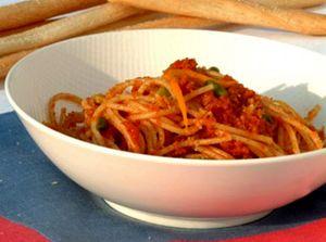 Spaghete cu roşii uscate