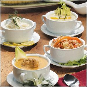 Midii in supa verde de curry cu ghimbir si lapte de cocos