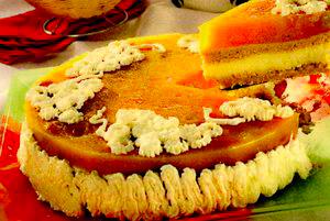Tartă cu brânză şi struguri