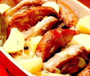 Ciolan cu varză acră şi cartofi