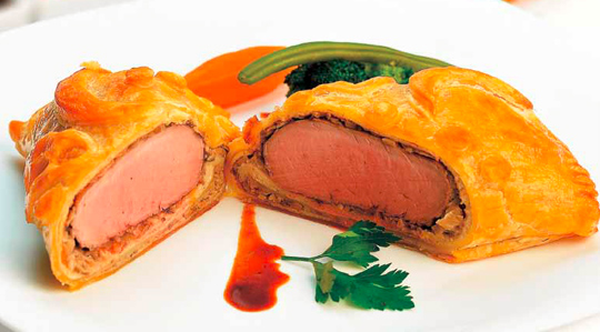 Muschiulet de porc wellington