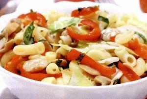 Paste cu salată verde şi ciuperci