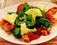 Salată de spanac cu bacon