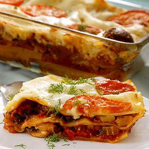 Lasagna cu dovlecel si branza de migdale