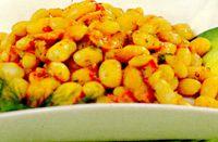 Mancare de fasole cu boabe de morcov