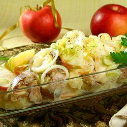 Salata de cartofi cu peste sarat sau afumat