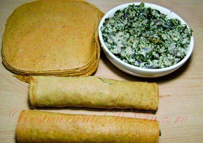 Clătite cu legume şi carne
