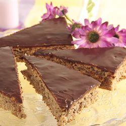 Covoras cu mac si glazura de ciocolata