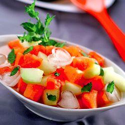 Salată de pepene cu mentă