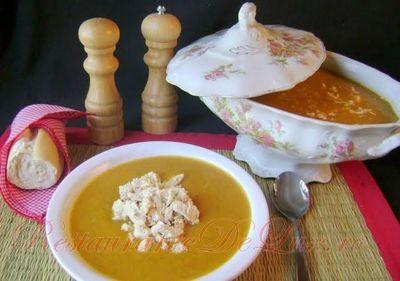 Supa crema de pui cu legume