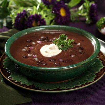Supa de fasole neagra cu porumb