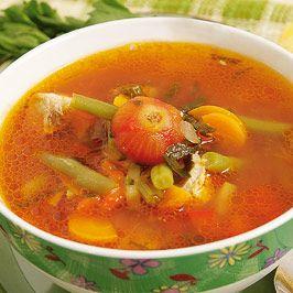 Supa de fasole cu migdale