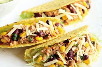Tacos cu guacamole si alge