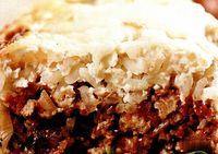 Budinca de orez, carne de curcan si mozzarella