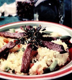 Curry de orez cu vită şi cimbru