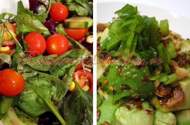 Salata verde cu ficatei de pui, miere si nuca