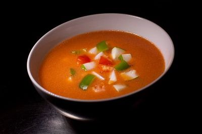 Supa gazpacho cu fructe de mare