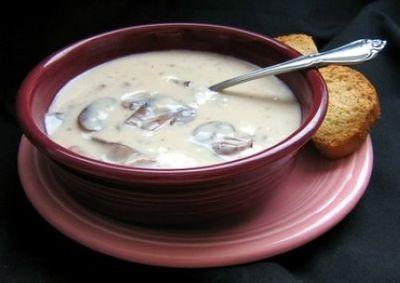Supa picanta de ciuperci cu smantana