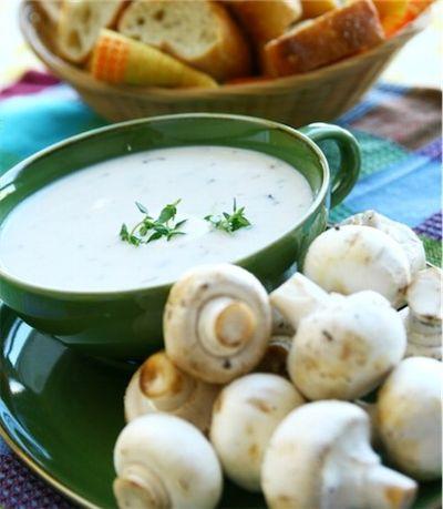 Ciorba de ciuperci cu usturoi