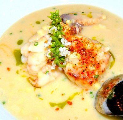 Supa de crab cu porumb