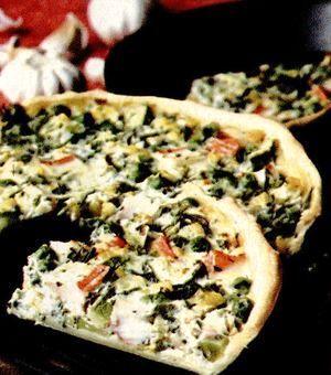 Tartă cu legume şi surimi
